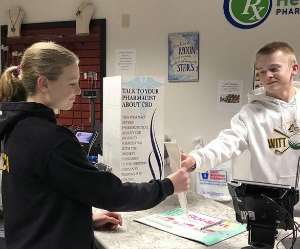cashier and customer